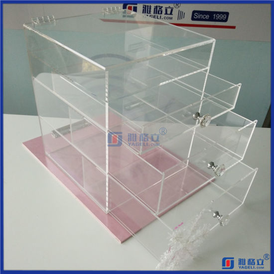 Customized 4 Tiers Acrylic Makeup Drawer pictures & photos