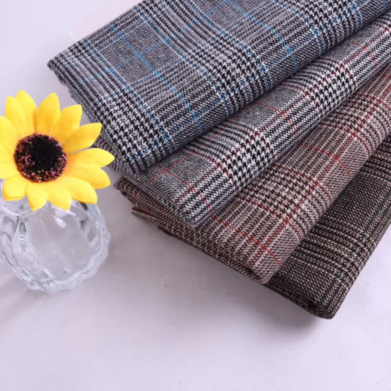 Light Weight Checked Fabric for Pants Garment Fabric Suit Fabric