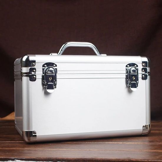 Silver Brushed Aluminum Tool Case Whit Zinc Alloy Handle (KeLi-D-02)