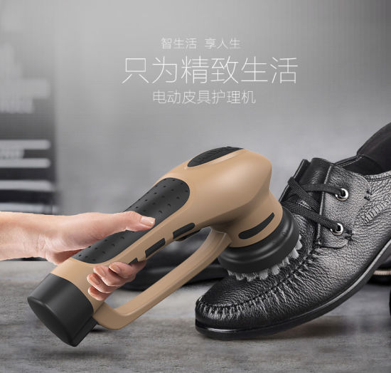 Electric Shoe Polishing Machine with Brush Rechargeable Shoe Cleaning Machine Mini Handheld Automatic Shoe Polisher