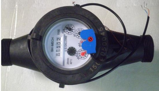 Dn15-Dn40mm Plastic Multi-Jet Dry Dail Cold Water Meter pictures & photos