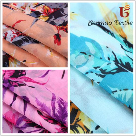 100% Polyester Chiffon Fabric/ Crepe Chiffon/ Digital Printed Chiffon Fabrics