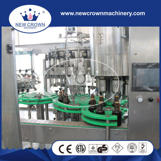 2000bph Foam Injector Connected Monoblock Beer Filling Machine for Glass Bottle pictures & photos