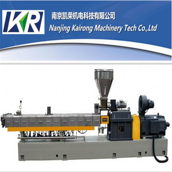 Nanjing Co-Rotating PVC Cling Film Extruder Pelletizing Machine Plastic Granulator pictures & photos
