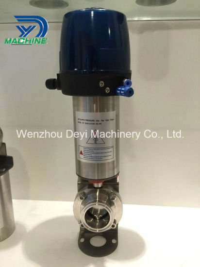 Stainless Steel Pneumatic Actuator Butterfly Valve with Intelligent Head