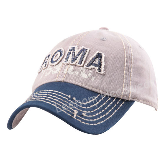 Custom Washed Distressed Applique embroidery Fitting Sport Golf Cotton Cap pictures & photos