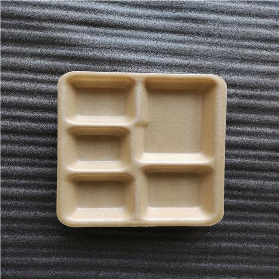 Foam Type Renewable Corn Starch Compartment School Tray