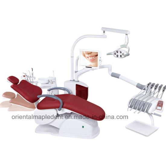 CE Approved Dental Unit Chair With Dental LED Light (OM DC6600)