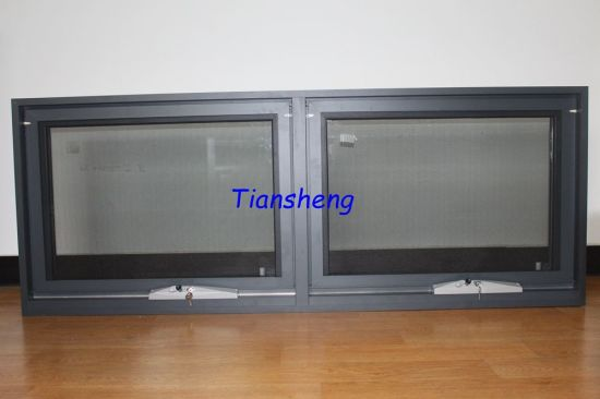 Australia Style Aluminum Awning Window With Flyscreen And Double Touged Glass AS NZS2208 Certification