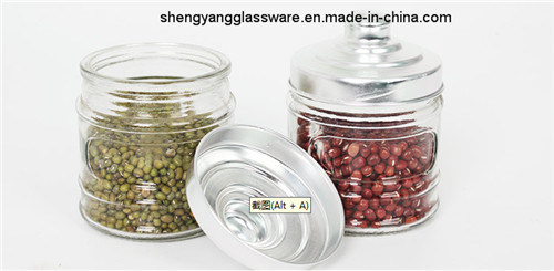 Free Sample 200ml-500ml Glass Jar with Metal Lid pictures & photos
