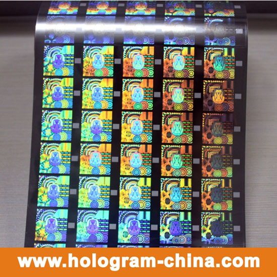 Gold Security Roll Hologram Hot Foil Stamping pictures & photos
