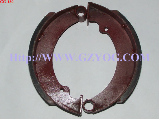 Yog Motorcycle Spare Parts Brake Shoes Bajaj Ax100 Cg125 Jh70 Ybr125 Cgl125 Wy125 Fxd125 Dy100 Wave110 Biz110 Tricycle Titan Cargo Rx115 Rx110 Bros Nxr 150cc pictures & photos