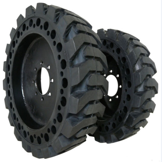 Puyi Solid Tires 12-16.5 with Rims for Skid Steer Loaders pictures & photos