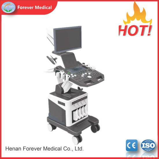 China Forermed Trolley Color Doppler 4D Cardiac Echo Ultrasound Machine
