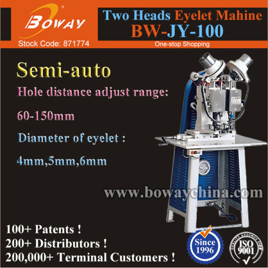 Two Heads High Speed 8000 Bags Per Day Industrial Eyelet Sewing Buttonhole Machine