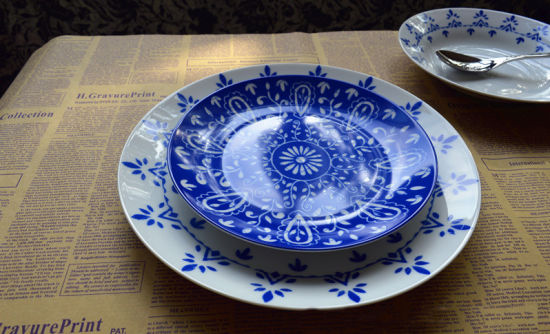 Blue and White China Middle East Pattern Star Hotel Dinnerware & Blue and White China Middle East Pattern Star Hotel Dinnerware ...
