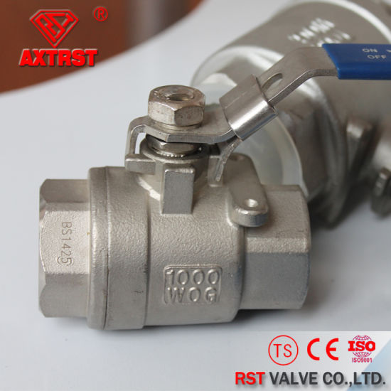 Stainless Steel Full Port Floating Threaded 2PC Ball Valve pictures & photos