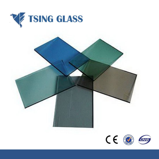 Reflective Glass for Construction with Customized Design Strip Art Pattern