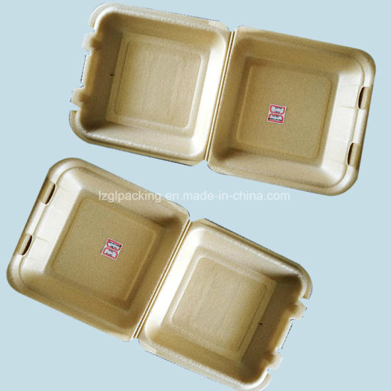 Restaurant Food Packaging 1 Compartment PLA Foam Clamshell Containers