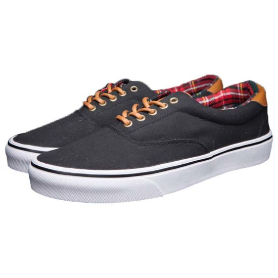 Sports Style Vulcanized Blue Canvas Shoes with Soft Rubber Sole pictures & photos