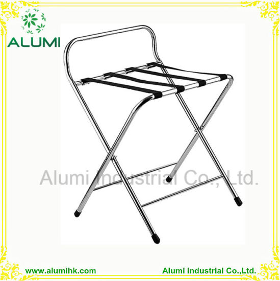 Stainless Steel Metal Folding Luggage Racks For Bedrooms