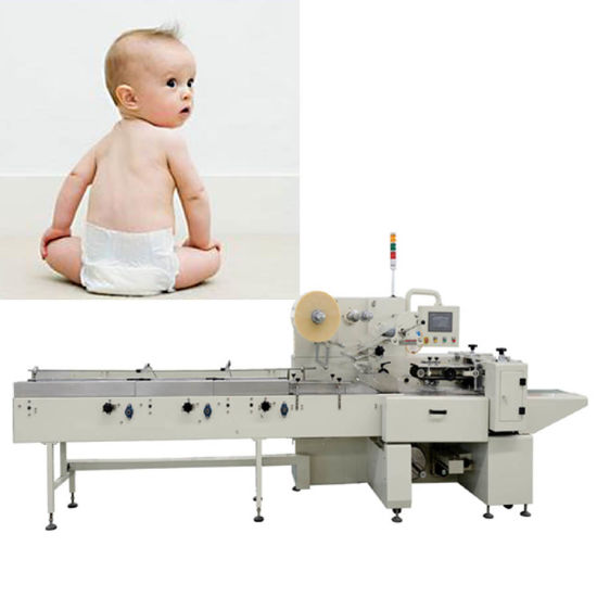 Servo Drive Baby Diapers Sealing Wrapping Packing Machine pictures & photos