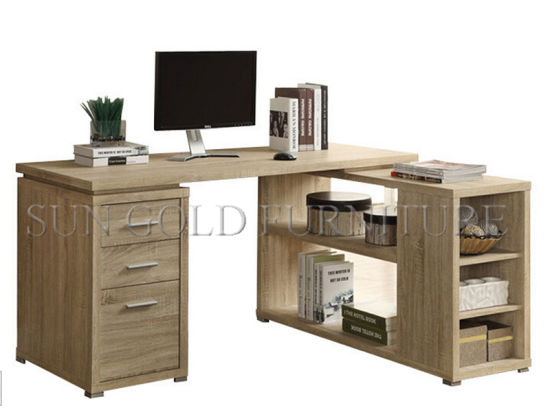 Office Computer Desk With Side Table