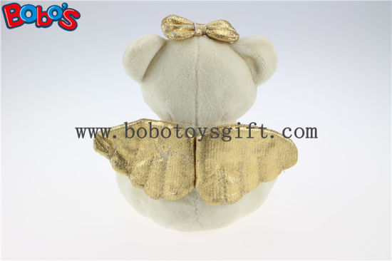 "6.3"" Stuffed Gift Toy Angel Teddy Bear with Gold Heart Pillow Bos1113 pictures & photos"