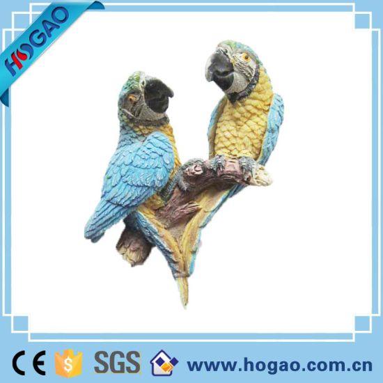 Animal Statue Two Pretty Parrot Home Decor