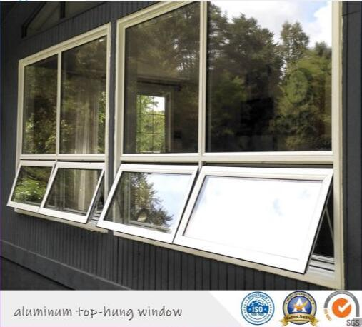 German Hardware Double Tempered Glass Insulated Aluminium Top-Hung Window/ Tilt and Turn Window
