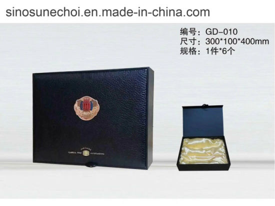 Customize Luxury Packaging Handmade Wine Box PU Leather