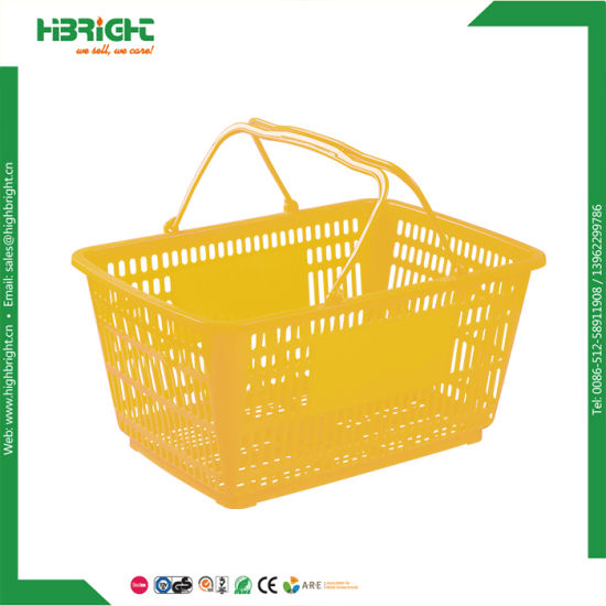 Retail Shop Single Handle Shopping Basket with Different Color pictures & photos