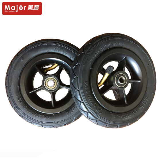 6 - Inch Pneumatic Rubber Tires, Aluminum Wheels for Baby Wheel, Children′s Toy Car Wheels, etc. pictures & photos