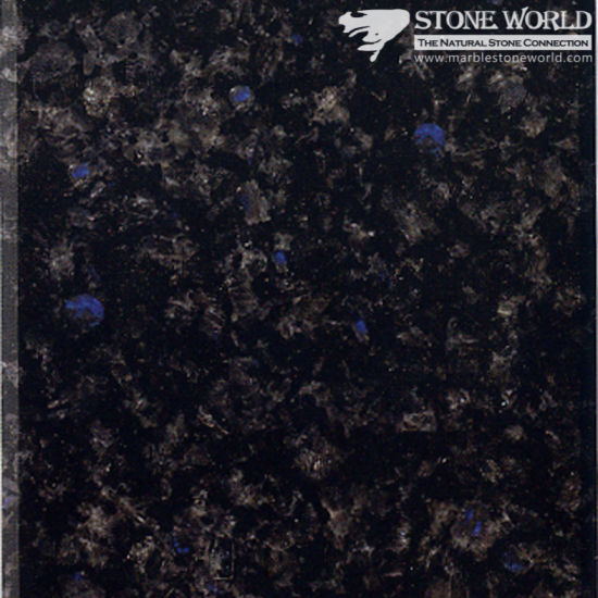 Polished Impala Blue Granite For Countertops U0026 Vanities (MT050)