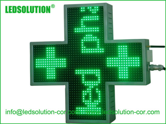 50X50cm P10 Outdoor Single Color Cross LED Display Sign pictures & photos