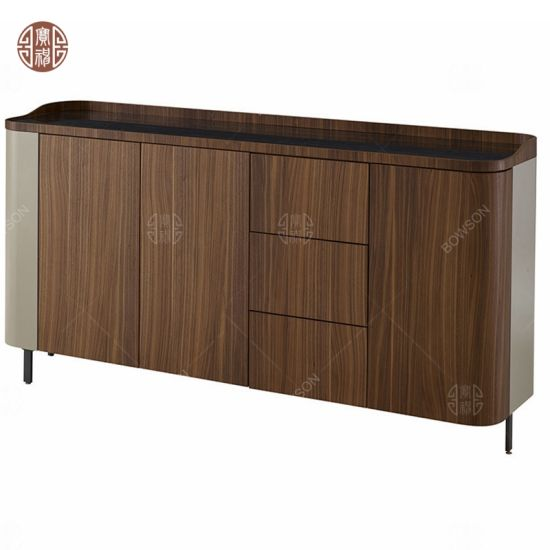 Modern Wooden TV Cabinet TV Stand with Door Drawers for Hotel Furniture