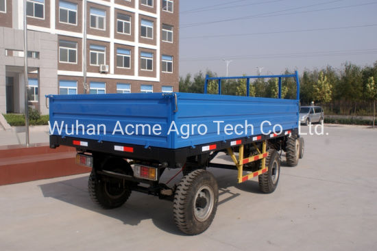 Agricultural Small Tractor 4 Wheel Farm Trailer for Sale