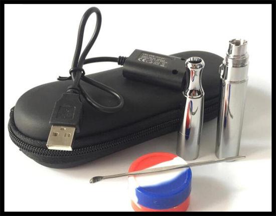 Dual Quartz Coils Wax Vape Pen Electronic Cigarette EGO Portable Dry Herb Vaporizer Pen Ceramic Coil Skillet Wax Pen