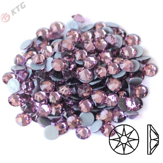 Hot Pink Hotfix Iron On Glass Rhinestones Flat Back Crystals Diamante Gems