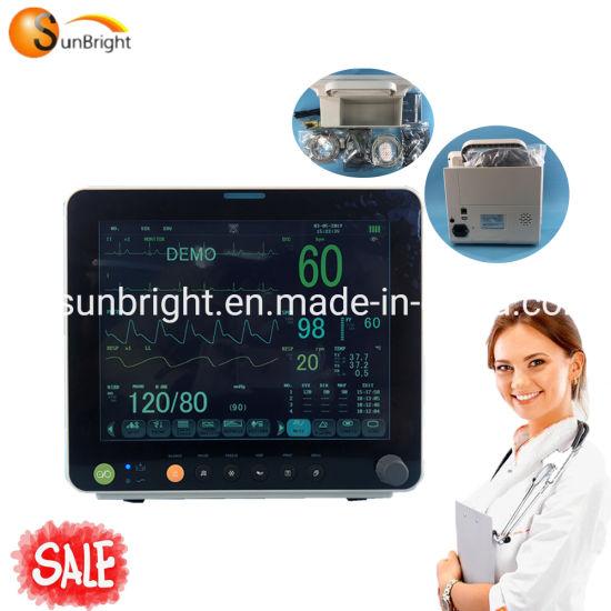 High Quality Parameters ICU SpO2 NIBP ECG Patient Monitor
