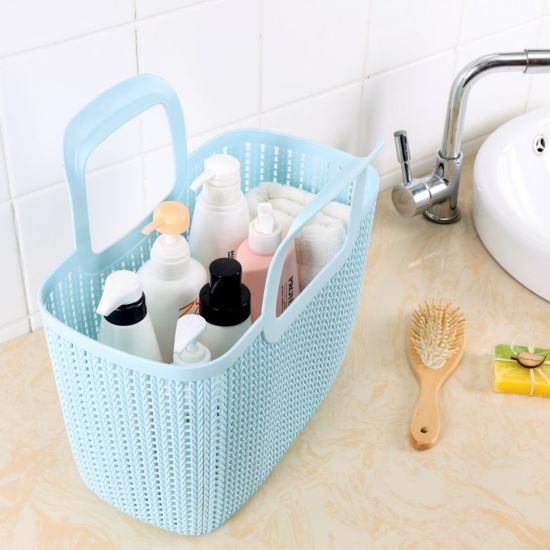 Fashion Versatile Portable Plastic Storage Baskets with Handles