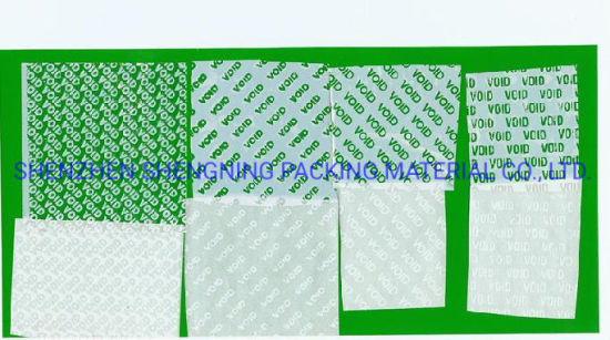 Custom Security Tamper Evident Voidopen Adhesive Labels