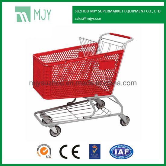 180 Liters Plastic Supermarket Shopping Trolley Mjy-180cp