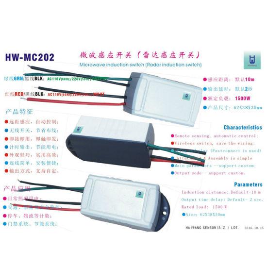 China AC 220V/50Hz Product Size62*38*30mm Microwave Radar