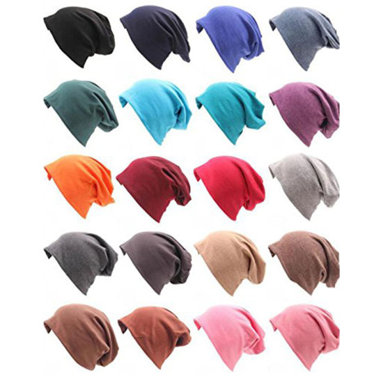 4153bbfe3d2 China Women Soft Cotton Jersey Beanie Sleep Slouchy Hat Turban Hat ...