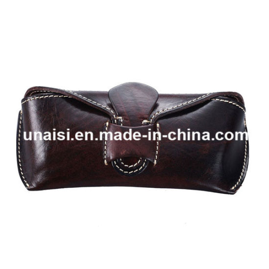 b913f7eee6cce6 China Custom Genuine Leather Sunglasses Eyeglasses Case - China ...