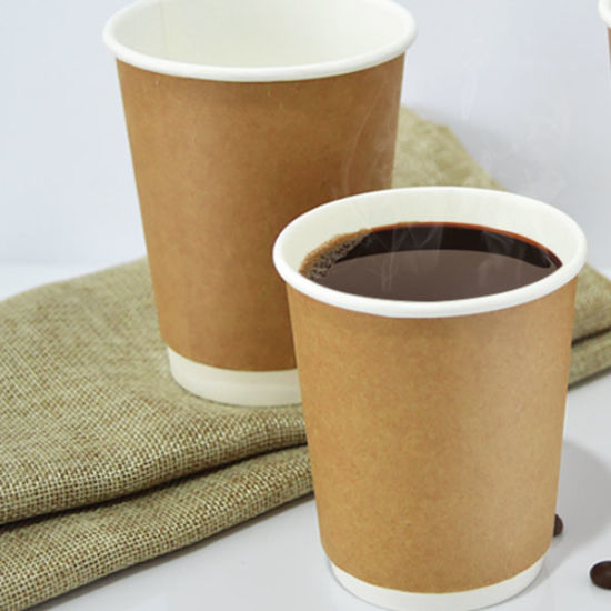 Logo Printed 10oz Disposable Double Wall Paper Cups