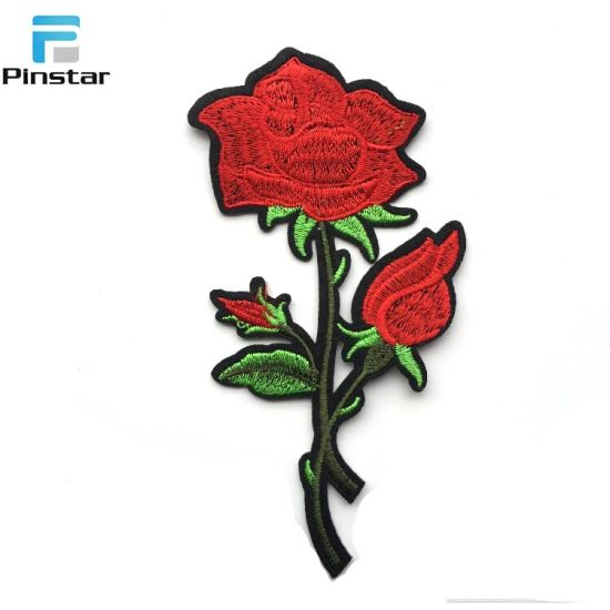 0a3fb666abd China Manufacturer Custom Design Rose Embroidered Patches - China ...