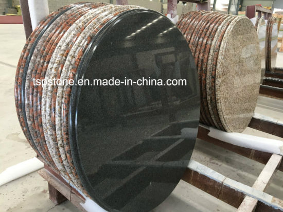 Natural Stone Round Bar Table With Steel Leg