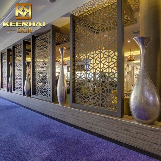 Hotel Docorative Perforated Aluminum Wall Partition Panels
